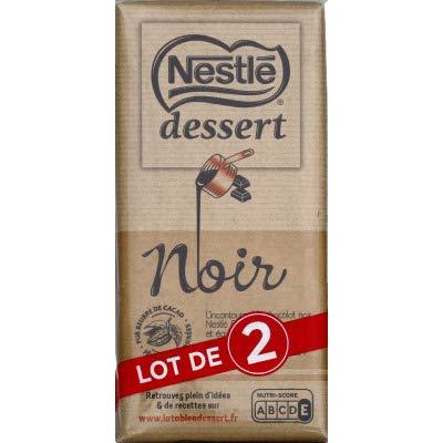 Nestlé Chocolat noir - Les 2 tablettes de 205g