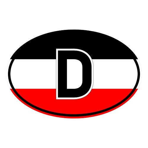 Generisch Aufkleber Länderkennzeichen Deutsches Kaiserreich   Sticker   Reich   PKW   Auto   Autoaufkleber