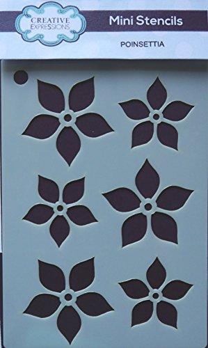 Creative Expressions Mini Stencil - Poinsettia