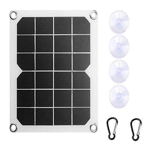 TOOGOO 5V 10W Panel de Cargador Solar Monocristalino una Prueba de Agua CéLula Solar Semiflexible para Cargador USB Dual Al Aire Libre