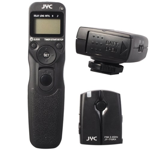 JYC JY-710 C1 FSK 2.4GHz Wireless/Wire Digital Timer Remote Controller for CANON/PENTAX/SAMSUNG