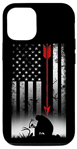 iPhone 12/12 Pro Bow Hunting American Flag Deer For Arrow Hunters Case