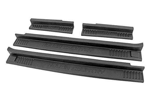 Rough Country Door Entry Guards (fits) 2007-2018 Jeep Wrangler JK 4DR | Front Rear | 10567