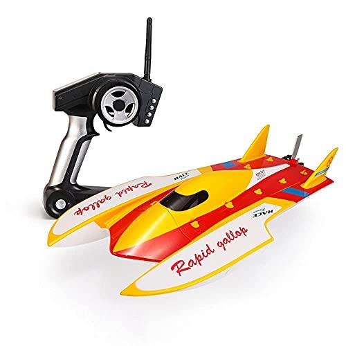 ZDYHBFE Radiocomando 2.4G Nave una barca RC ad alta velocità con una velocità di 50 km/h all'ora, barca per aragoste RC anti-ribaltamento Motore senza spazzole ad alta velocità Boy Girl Toy Boat Summe