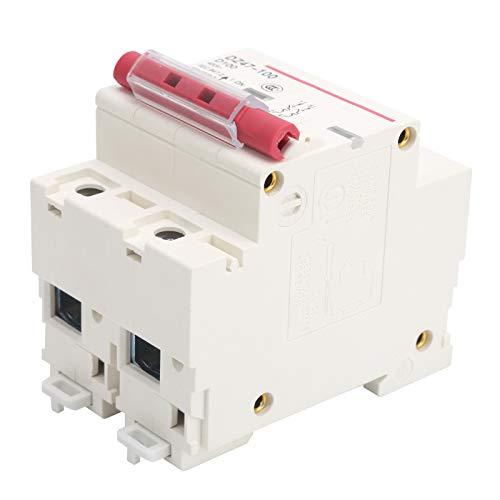 Interruptor de aire para el hogar Interruptor de circuito en miniatura tipo D DZ47-100 2P 80-100A Instalación en riel Interruptor de protección de sobrecarga 10KA para el hogar con manija