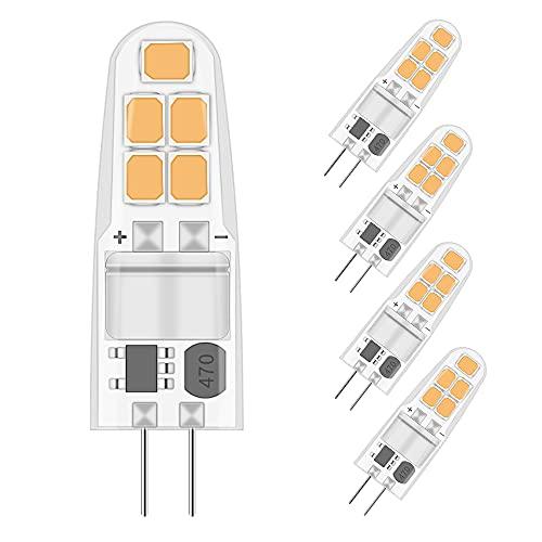 ELINKUME Ampoules Led Chaude Ampoules Led 12V AC/DC, 2W Ampoule G4 Led Équivalent 20W Ampoule Halogène, pour L'éclairage Domestique, Minimeis G4 Non-Dimmable, Lot de 5