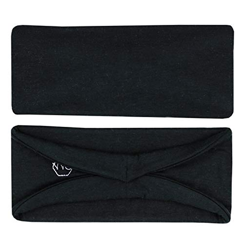 Three Layer Women's Winter Headband for Yoga Running Exercise Sports Workout Stretchy No Slip 2 Pack by Maven Thread (Black)