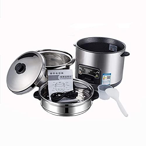 qwert Arrocera (2 – 6 L), aislamiento inteligente, multifunción, recipiente interior de acero inoxidable, cuchara, vaporera y vaso medidor, para dormitorio, dispositivos pequeños, 3 L