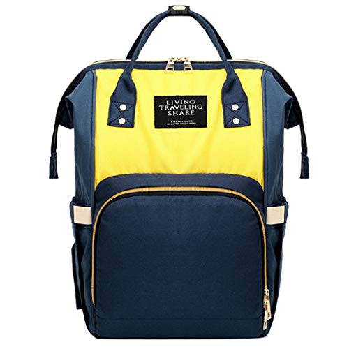 Qiuday Damen Rucksack Studenten Backpack Laptop College Schulrucksack Reiseeucksack Multifunktionale Neugeborene Mutter Wickelauflage Tragbare wasserdichte Kindertasche Kapazität Unisex