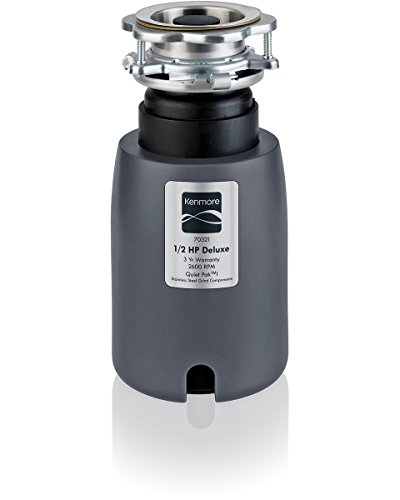 Kenmore 70321 1/2 horsepower, 2600 RPM Garbage Disposer w/ stainless steel grinding...
