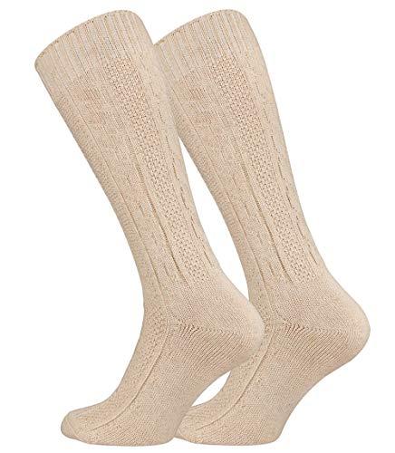 Calzettoni al ginocchio Trachten classici per uomo e donna - colore naturale