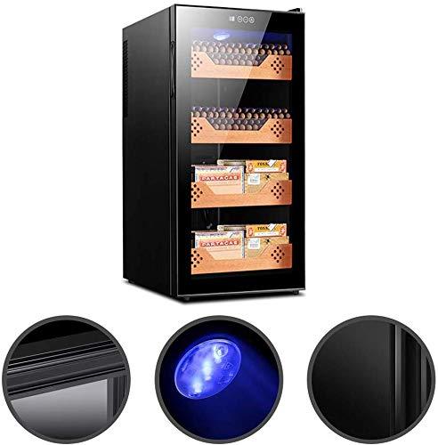 Sellado fuerte Utensilios for Bar caja de cigarros del cigarro refrigerador termoeléctrico humidificador español Cedro Estructura Pantalla Humedad Gabinete cigarro electrónico Gabinete temperatura con