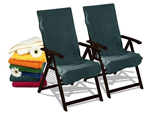 Dyckhoff Doppelpack Schonbezüge für Gartenstuhl & Gartenliege 277.297, Gartenstuhl (60 x 130 cm), grau