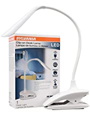 SYLVANIA General Lighting 64994, Warm White, 4000K Portable Clip-on Desk Lamp