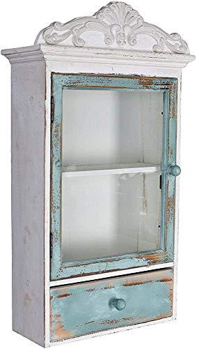 Retro armadio con ante in vetro e cassetti, appesi vetrine, retro armadio,Retro