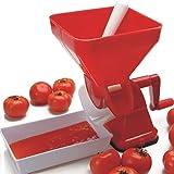 BWLZSP Prensa de tomate, fabricante de salsa de platillo de tomate manual Tamiz de alimentos para frutas y verduras Herramienta de cocina, jugos ligeros, sin pelar