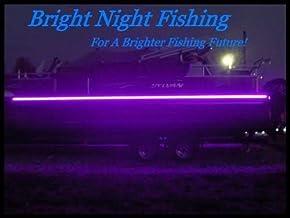 Bright Night Fishing 16ft UV Boat Light Black LED Fluorescent line Glow Ultraviolet 12v Night Fishing bass