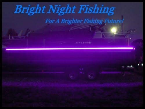 Bright Night Fishing 16ft UV Boat Light Black LED Fluorescent line Glow Ultraviolet 12v Night Fishing bass