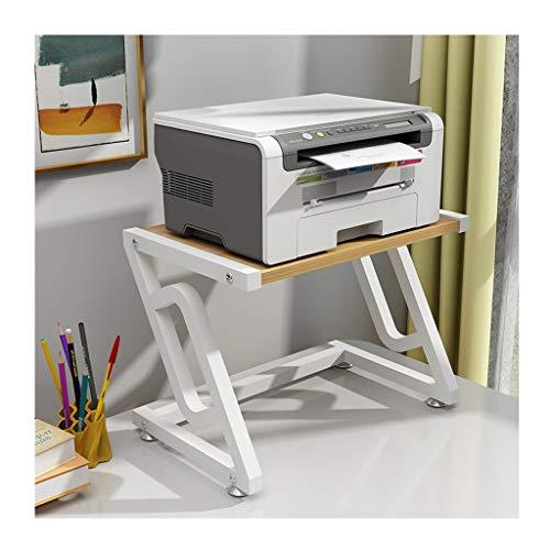 Carro de la Impresora Creativa Impresora multifunción Estante de Almacenamiento en Rack Doble Moderna Minimalista de múltiples Capas de Rack Rack de Copia de hogar y Oficina Soporte de Impresora