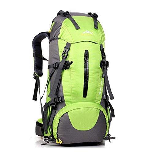 Phil Beauty Hiking Backpack 50L Waterproof Travel Backpack Trekking Rucksack Mountaineering Backpack Outdoor Travel Bag Comfortable And Breathable for Men And Women,green