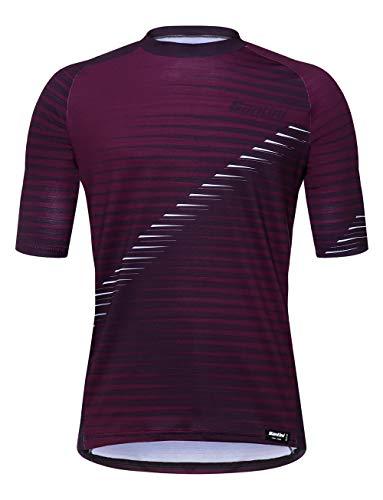 Santini Roccia - Camiseta de Ciclismo para Hombre, Hombre, SP499GLLROCCI, Burdeos, X-Large