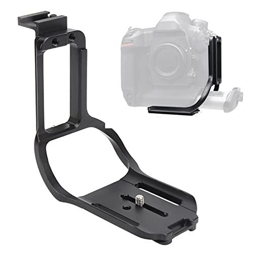 SHYEKYO Soporte en L, Placa de liberación rápida, diseño de Tipo Dividido, Orificio de expansión de 1/4 pulg, Aluminio de Grado aeronáutico para cámara Nikon D6 SLR