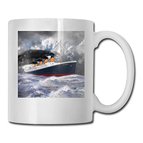 haoqianyanbaihuodian Rms Titanic The Legend 1912 - Vasos de cerámica (330 ml)