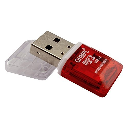 Quantum QHM5570 Micro SD Card Reader (Red)