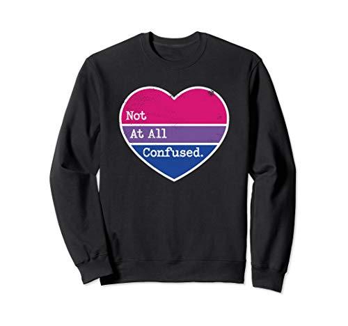 Bisexuelle Stolz nicht verwirrt Bi Pride Bi Farben Herz Sweatshirt