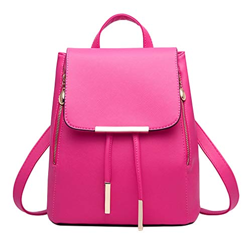 ❤ FASHION DESIGN: This cute bookbag purse is a beautiful and fashion design backpack with two back straps and one top handle strap. The unique and fashion style is easy to go with, you can carry it when you go to school, college, office or go shoppin...
