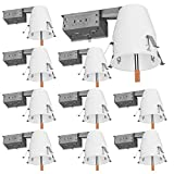 Sunco Lighting 10 Pack 4 Inch Remodel Housing, Air Tight IC Rated Steel Can, 120-277V, TP24 Connector Included for Easy Install - UL & Title 24 Compliant
