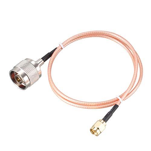 sourcing map Koax-Verlängerungskabel 50 Ohm 1,2m SMA Stecker auf N-Stecker RG316 Jumper Kabel