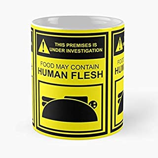 Bobs Burgers Zombies Under Investigation Food May Contain C Best Selling 11 Oz Coffee Mugs