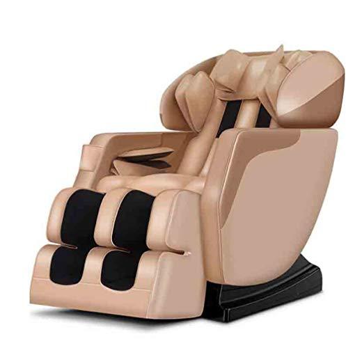 CSPFAIZA Massagesessel Multifunktional Elektrisches Sofa mit Wärmefunktion und LCD-Smart-Fernbedienung, 3D Surround Sound, Shiatsu-Massage, Ganzkörper Kneten - Sahne