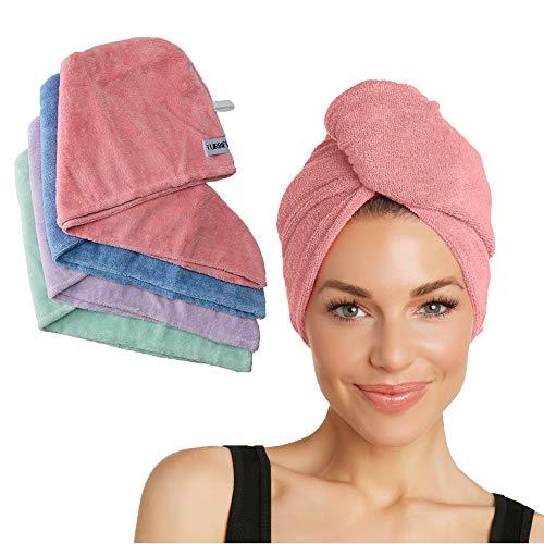 Turbie Twist Microfiber 4 pack,Pink, Purple, Blue, Aqua