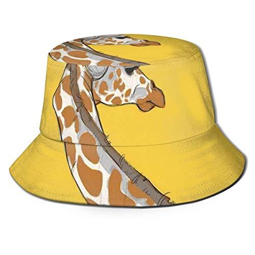 XCNGG Giraffe Unisex Summer Sun Bucket Hut Strandkappe