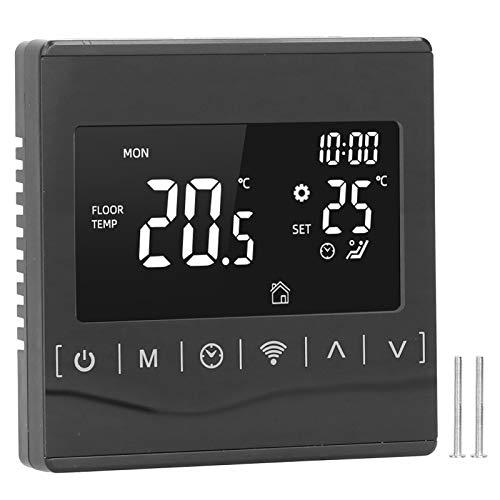 Omabeta Termostato Inteligente WiFi Controlador de Temperatura de calefacción de Suelo eléctrico Control de Voz 85 V ~ 265 V con Manual de Instrucciones de Tornillo