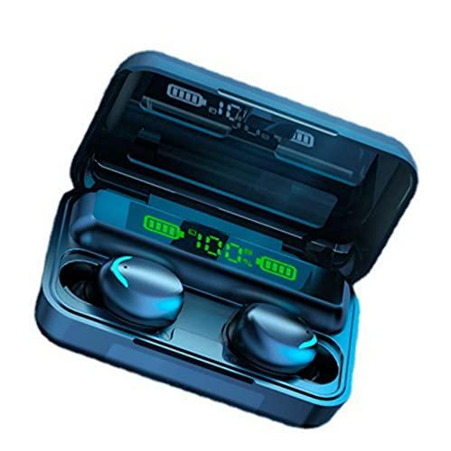 GGGJ Auriculares Bluetooth Auriculares Deportivos Bluetooth Auriculares Bluetooth con cancelación de Ruido Diseño Separado binaural Impermeable IPX7 Pantalla eléctrica LED Batería de Gran Capacidad