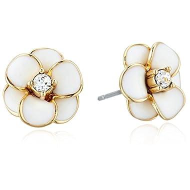 kate spade new york Flower White Stud Earrings