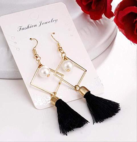 Oor Pins Bohemian kwast lange oorbellen voor vrouwen merk stijl Drop Earring verklaring sieraden voor vrouwene0122black