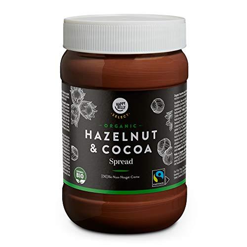 Marca Amazon - Happy Belly Select - Crema de cacao y avellanas ecológica, 800g