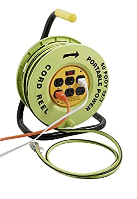 Designers Edge Power Stations 12/3-Gauge 50-Foot Cord Reel with 6 Outlets