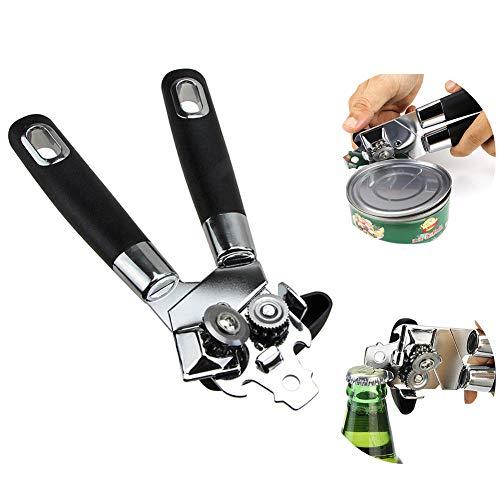 Tancurry Multifunktional Küche Werkzeug Sicherheits Edelstahl 3-In-1 Flaschenöffner Dosenöffner mit Rutschfestes Griff