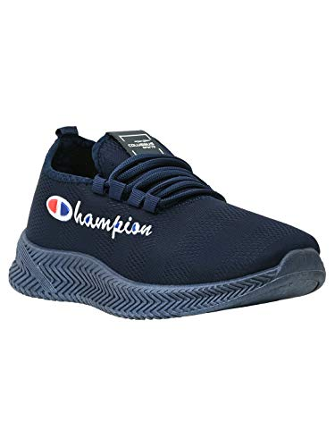 Columbus Running Shoes for Men   Stylish and Latest Athleisure Walking, Jogging and Sports Men's Shoes   Limited Edition Champion JSC-13 Series Navy