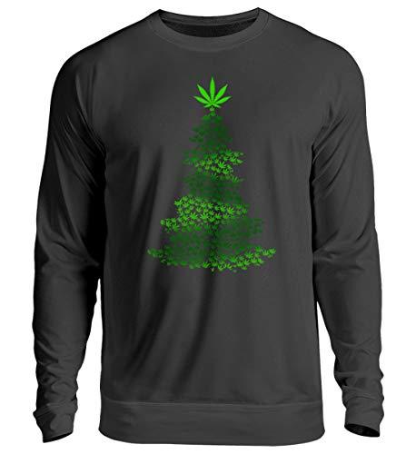 EBENBLATT Hanf Marihuana Cannabis Weihnachtsbaum Weihnachten 2018 Gras Rauchen Christmas Geschenk - Unisex Pullover