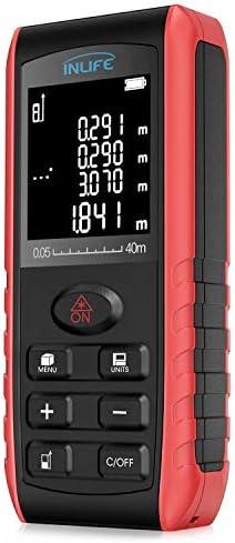 Laser Distance Measure 131FT 40M Backlit LCD Handheld Digital Laser Distance Meter with Single product image