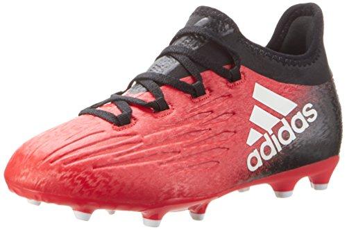 adidas X 16.1 Fg J, Scarpe da Calcio Bambino, Rosso (Redfootwear Whitecore Black), 35.5 EU