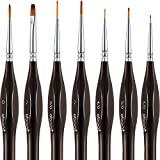Detail Paint Brushes Set Artist Paint Brushes Painting Supplies for Art Watercolor Acrylics Oil, 7 Pieces...