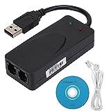 Velaurs Modem fax, Modem USB, Risposta Automatica Voicemail Componi Ampia compatibilità con Internet per 7 8 10 Windows