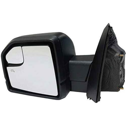 New Mirror Driver Left Side Heated Compatible with 2015-2018 F-150 Crew Cab Pickup 2015-2018 F-150 Extended Cab Pickup 2015-2018 F-150 Standard Cab Pickup Truck LH Hand FO1320523